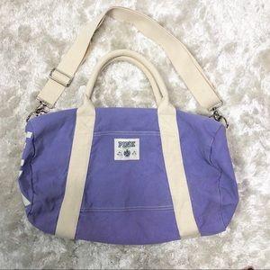Pink Victoria Secret Violet Purple Duffle Bag